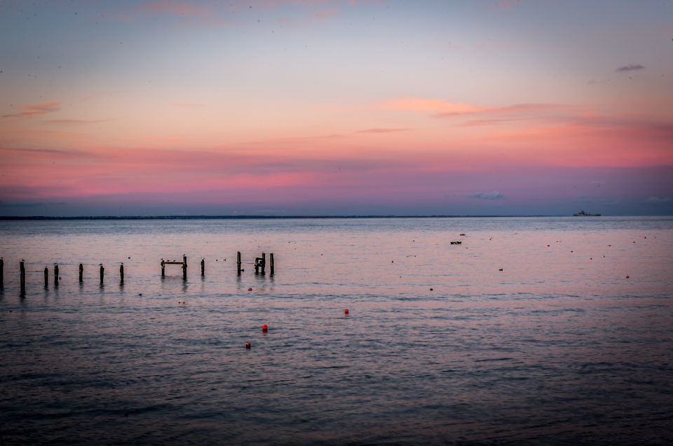 Swanage Old Pier Sunset