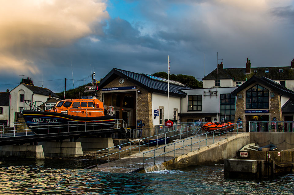 Both Swanage Lifeboats on the Slipway before grand opening