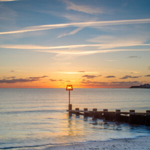 Groin Sun Rise Swanage Beach