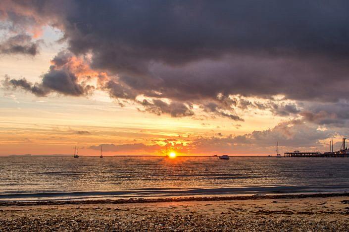 October Sunrise Swanage Beach