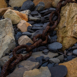 Rusty Chain Dorset Beach