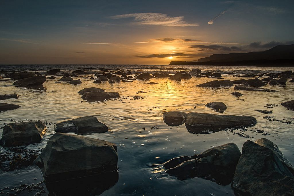 Kimmeridge Sunset Reflections Picture