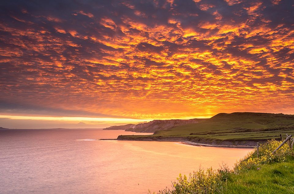Clavell Tower Kimmeridge Sunset Print