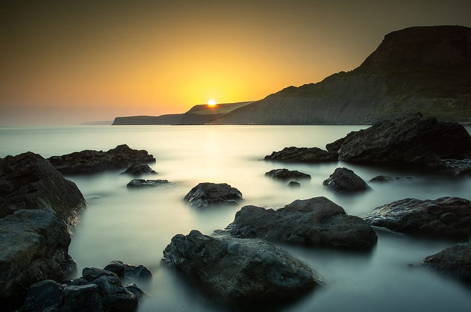 Chapman's Pool Long Exposure Sunset Print