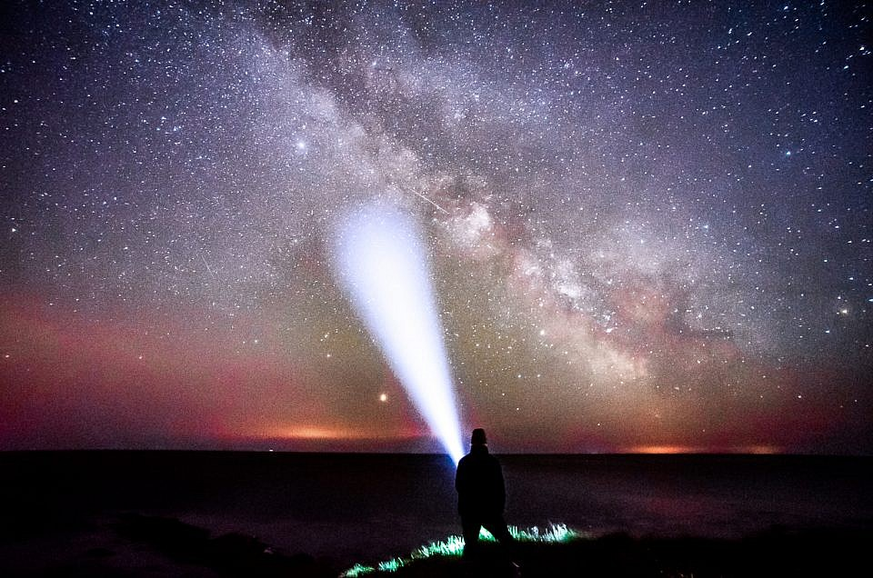 Milky Way Selfie. Always time for a quick selfie. Just some are more extreme than others at Peveril Point Swanage with Milky Way
