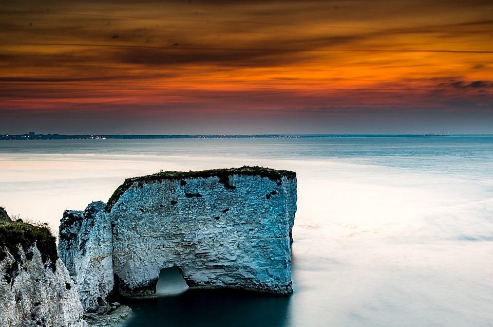 Sunrise Old Harry Rocks Swanage Dorset Photographer - Roydons Photography
