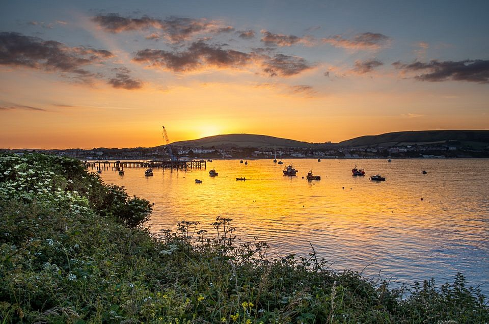 Swanage Bay Sunset Glow