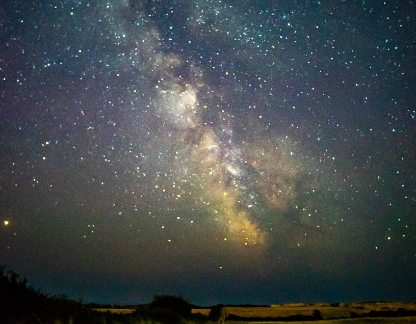 Road to Milky Way - Dorset Photographer Roydon Milky Way Photograph in Durlston Country Park Swanage Dorset