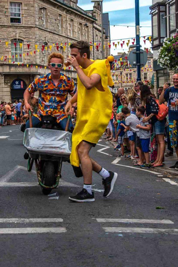 Banana Man Swan Pub Swanage Carnival Wheel Barrow Race