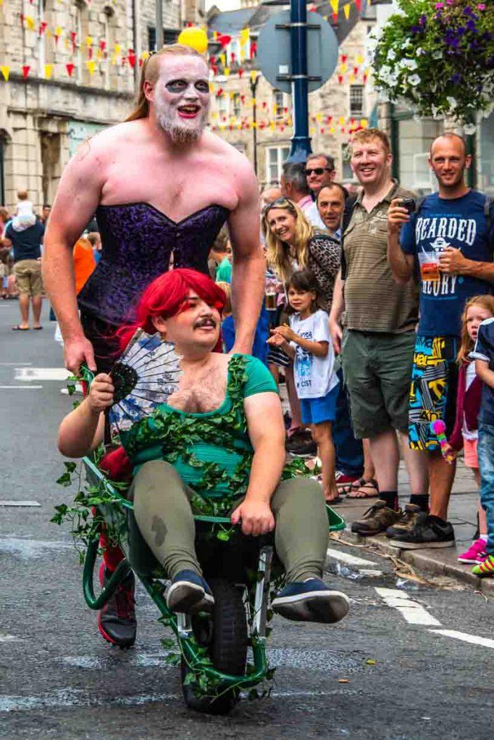 Big Guy Basque Swan Swanage Carnival Wheelbarrow Race
