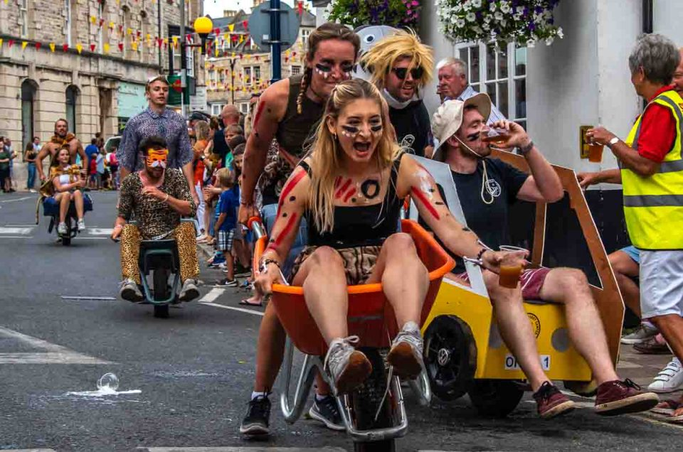 Event Photography Swanage Carnival Wheel Barrow Race