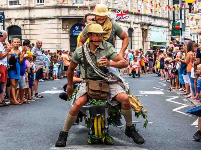 Swanage Carnival 2018 Wheel Barrow Race