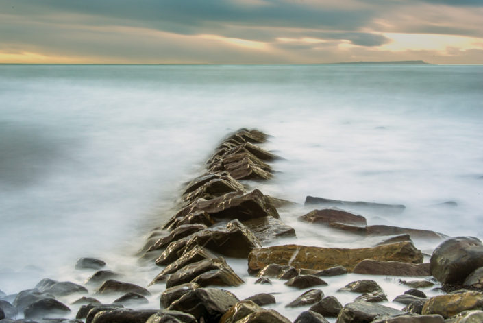 Kimmeridge Rocks Long Exposure Seascape Picture