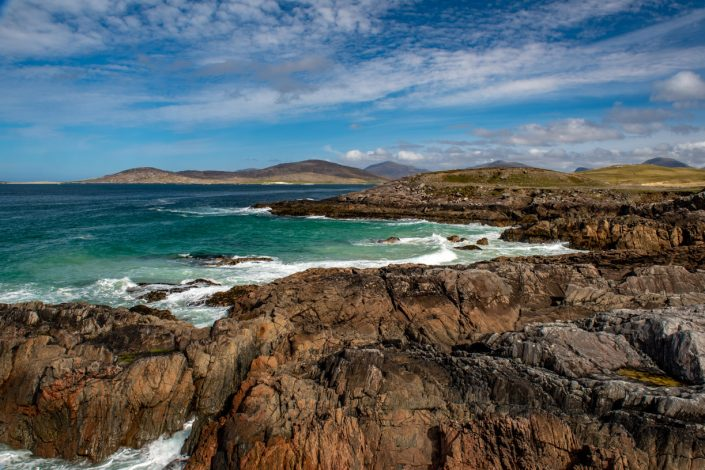 Rugged Rocky Shore of the Isle of Harris Coastline Photography