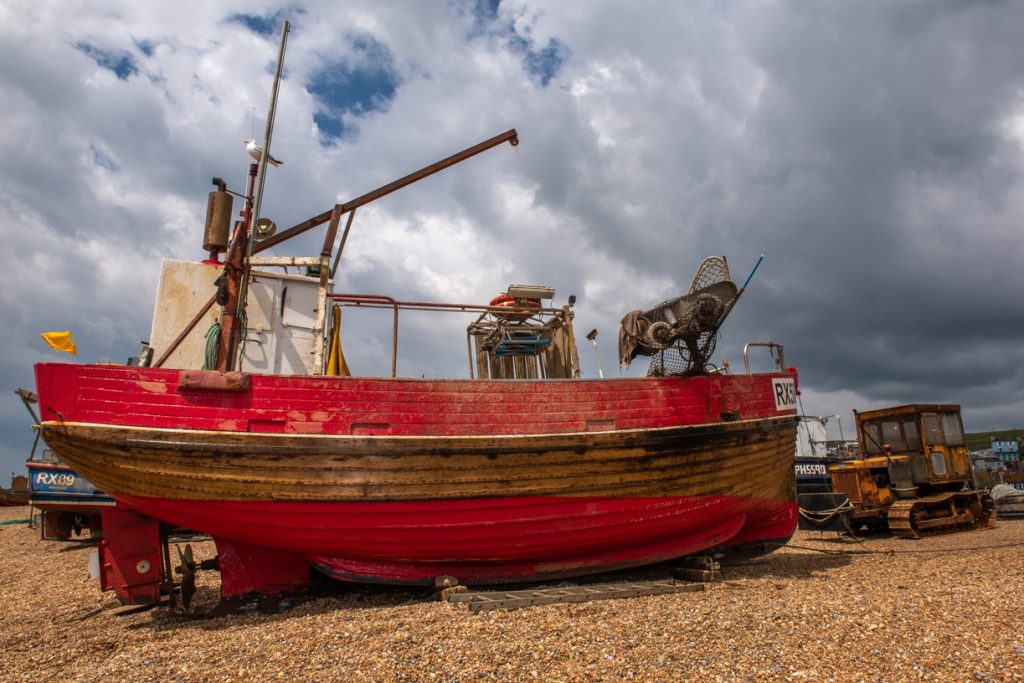 Hastings fishing fleet waiting for launch