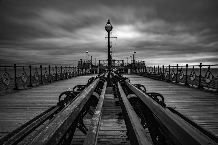 Black and White Canvas Print Swanage Pier