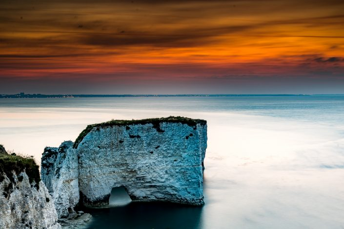 Seascape photography Old Harry Rocks Sunrise