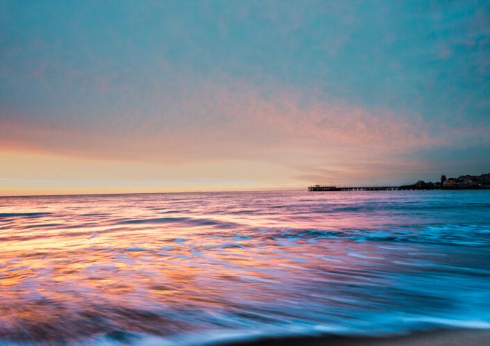 Sunrise Swanage Beach fine art photography